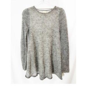 ZARA Mohair Gray Color Block Sweater Tunic EUC